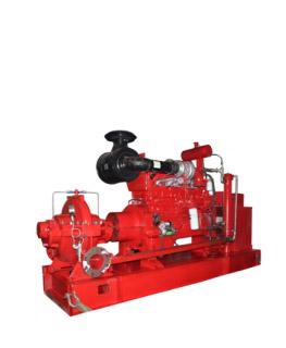 Bơm cứu hỏa Ebara động cơ Diesel 2 cửa hút.